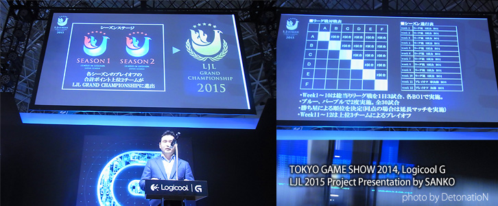 TOKYO GAME SHOW 2014, Logicool G / LJL 2015 Project Presentation by SANKO